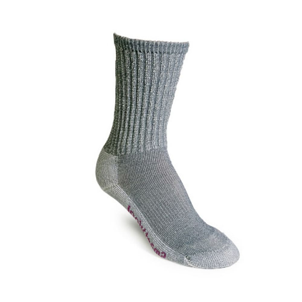 SMARTWOOL Women's Lightweight Crew Socks - LT GREY-054