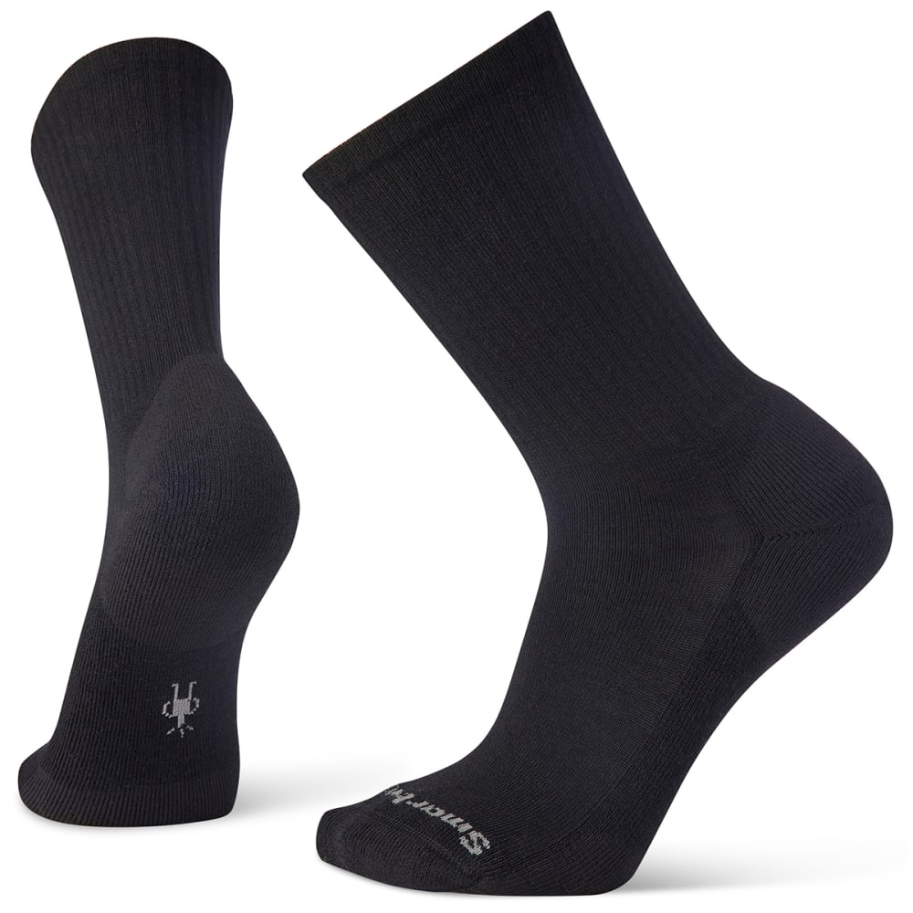 SMARTWOOL Heathered Rib Socks - BLACK