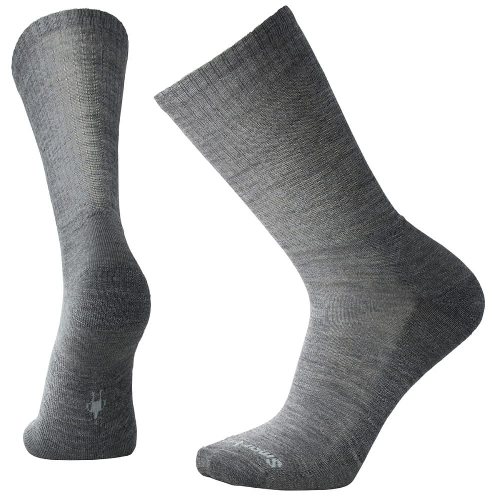 SMARTWOOL Men's Heathered Rib Socks - MEDIUM GRAY HEATHER
