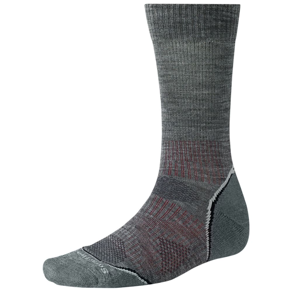 SMARTWOOL PhD Outdoor Light Crew Socks - MEDIUM GRAY