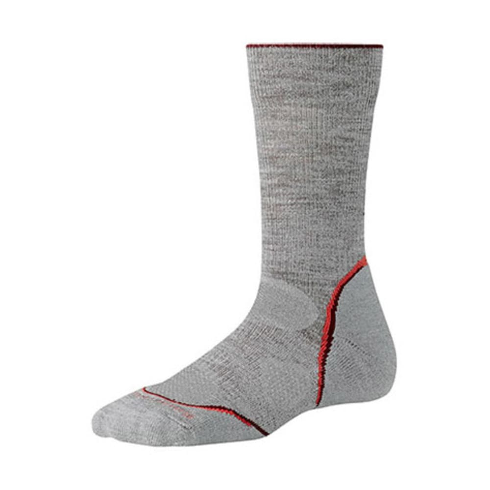 SMARTWOOL Women's PhD Outdoor Light Crew Socks - LIGHT GRAY