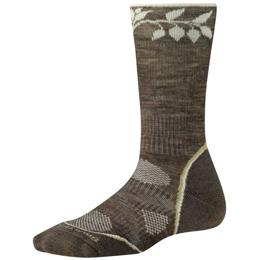 SMARTWOOL Women's PhD Outdoor Light Crew Socks - TAUPE