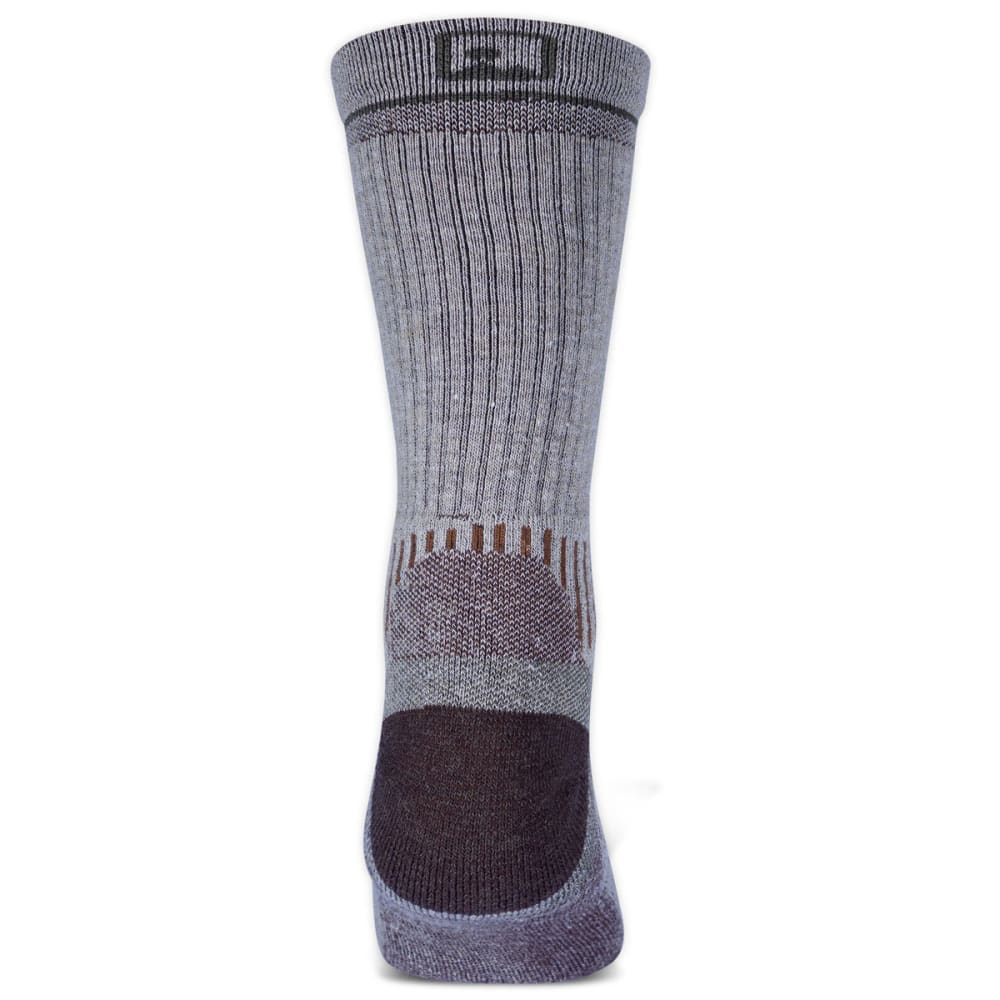EMS® Men's Fast Mountain Lightweight Merino Wool Crew Socks, Khaki  - KHAKI