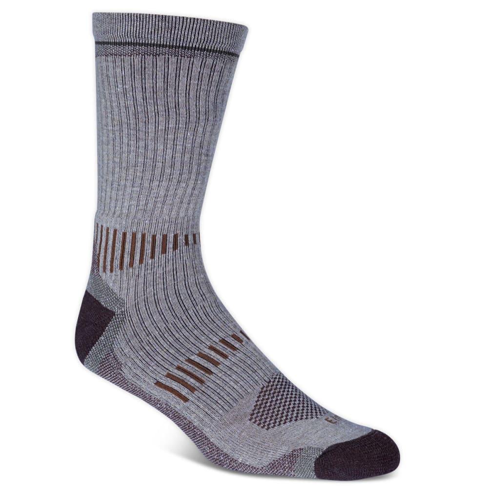EMS Men's Fast Mountain Lightweight Merino Wool Crew Socks, Khaki - KHAKI