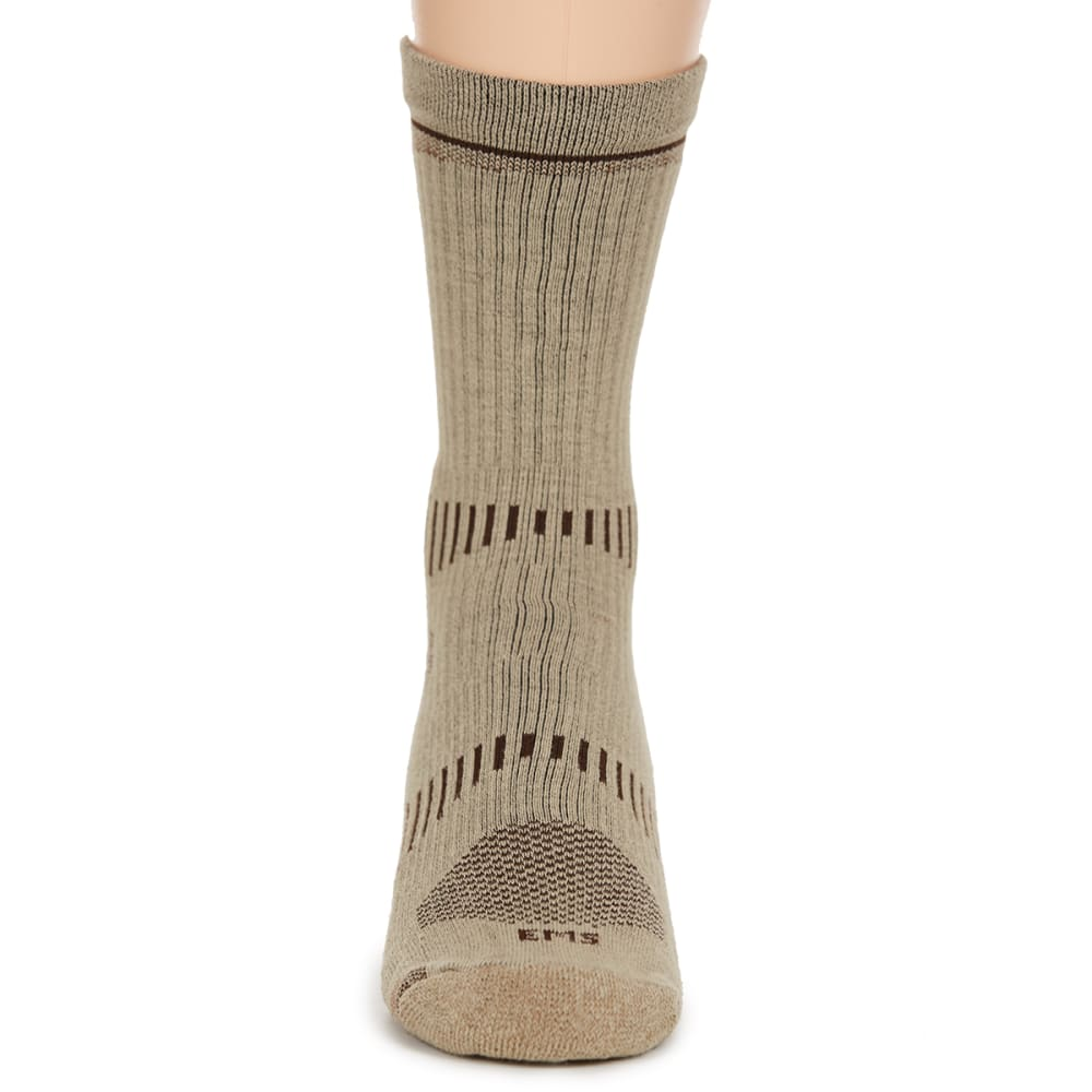 EMS Men's Fast Mountain Lightweight Coolmax Crew Socks, Khaki - KHAKI