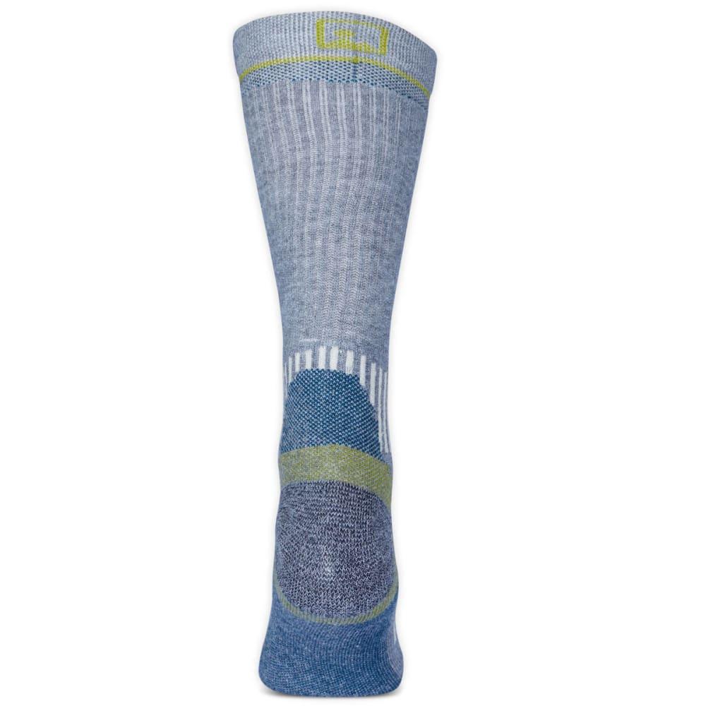 EMS Women's Fast Mountain Lightweight Coolmax Crew Socks, Grey - GREY