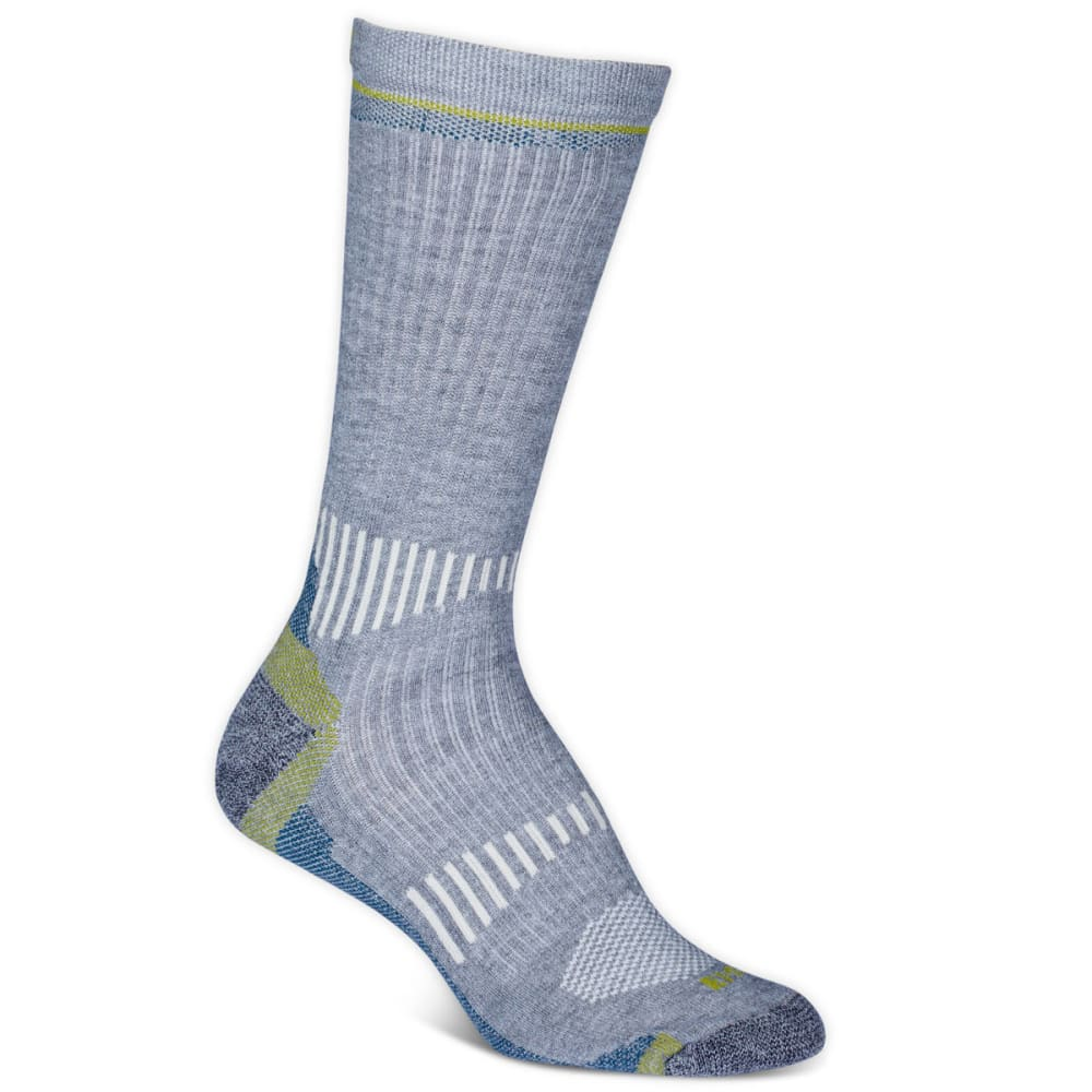 EMS Women's Fast Mountain Lightweight Coolmax Crew Socks, Grey - GREY