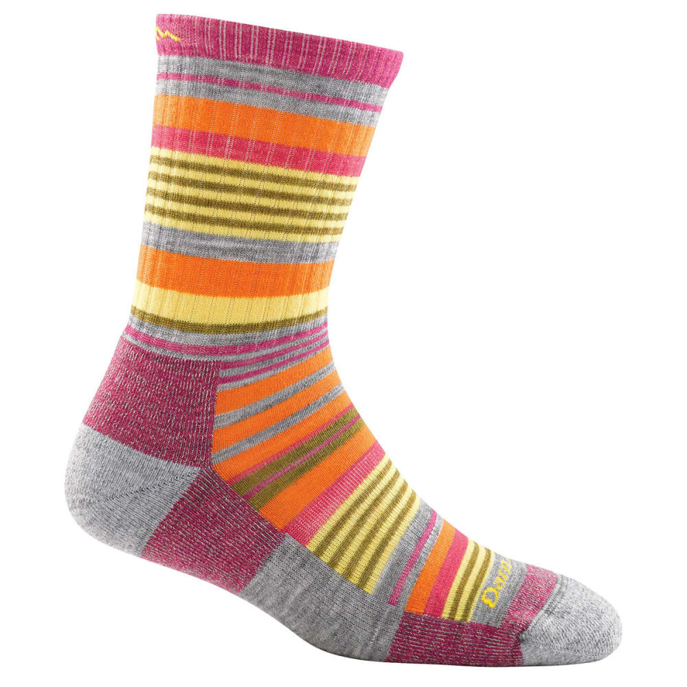 DARN TOUGH Women's Sierra Stripe Micro Crew Light Cushion Socks - LIGHT GREY