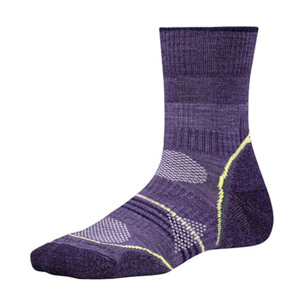 SMARTWOOL Women's PhD Outdoor Light Mid Crew Socks - DESERT PURPLE