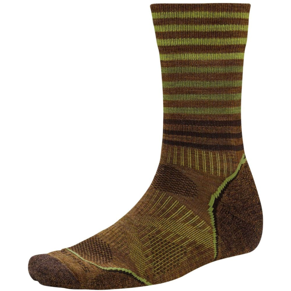 SMARTWOOL Men's PhD Outdoor Light Pattern Crew Socks - CARAMEL