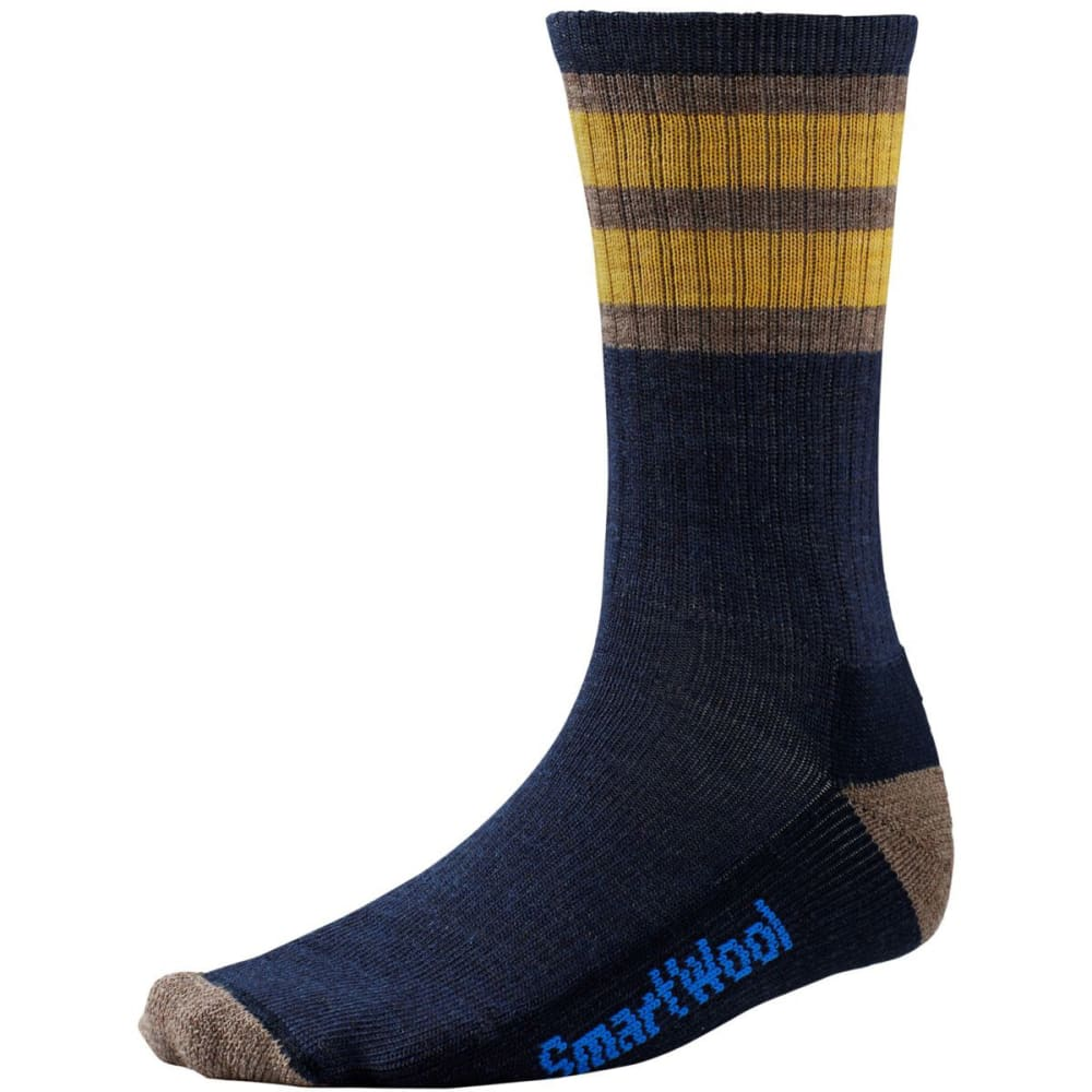 SMARTWOOL Men's Striped Hike Light Crew Socks - NAVY/SUN