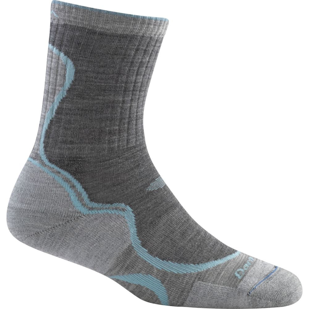 DARN TOUGH Women's Light Hiker Micro Crew Light Cushion Socks - SLATE GREY HEATHER