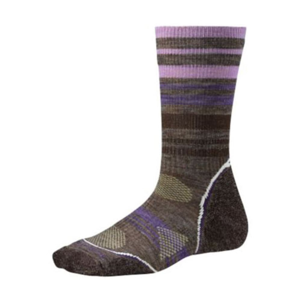 Smartwool Womens Phd Outdoor Lt Pattern Crew Socks - TAUPE