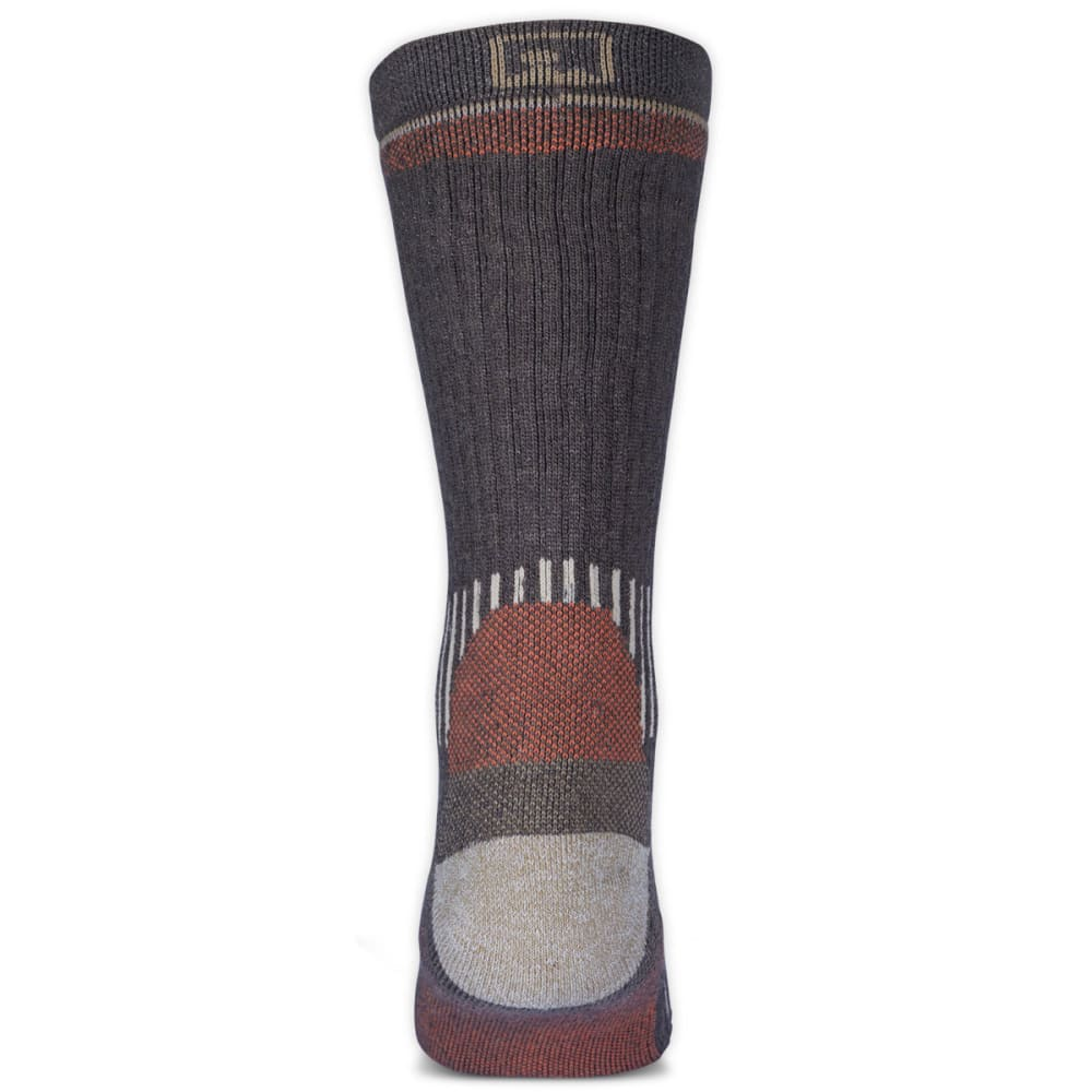 EMS® Men's Merino Wool Midweight Crew Socks, Brown  - BROWN