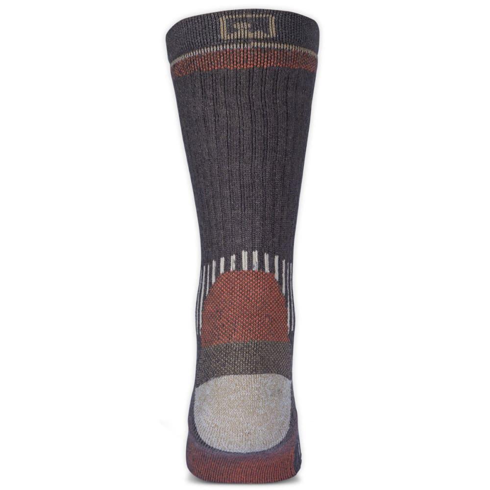 7812aac7a2ca EMS Men's Merino Wool Midweight Crew Socks, Brown - BROWN