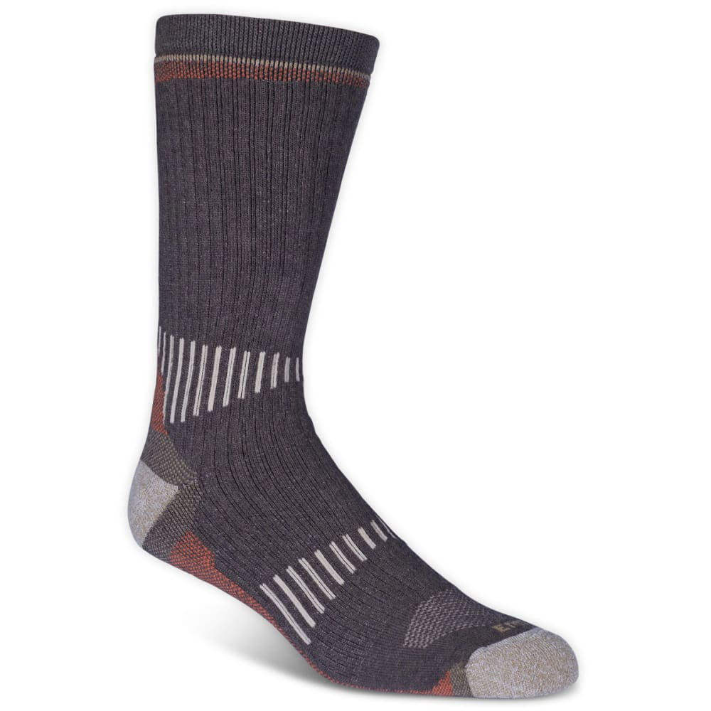 EMS Men's Merino Wool Midweight Crew Socks, Brown - BROWN