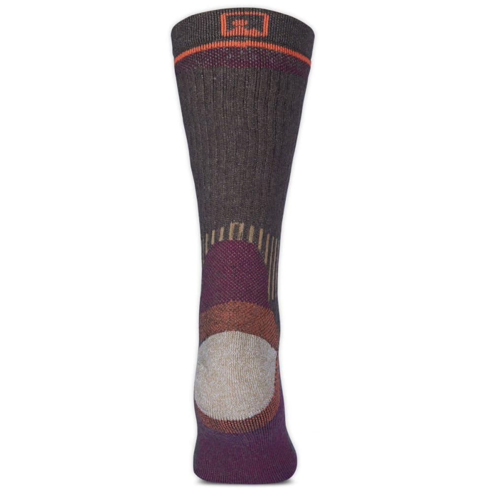 EMS Women's Fast Mountain Midweight Wool Crew Socks, Brown - BROWN