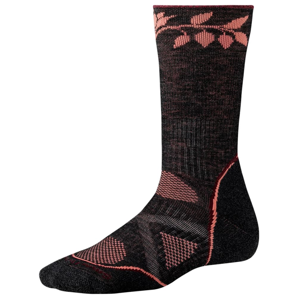 SMARTWOOL Women's PhD Outdoor Medium Crew Socks - CHARCOAL