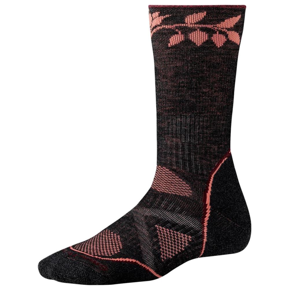 SMARTWOOL Women's PhD Outdoor Medium Crew Socks - CHARCOAL