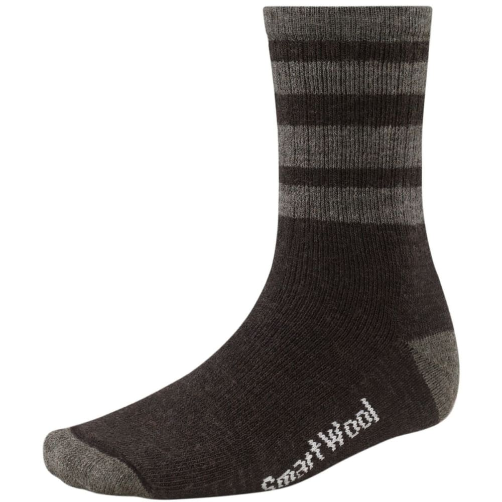 SMARTWOOL Men's Striped Hike Medium Crew Socks - CHESTNUT/TAUPE