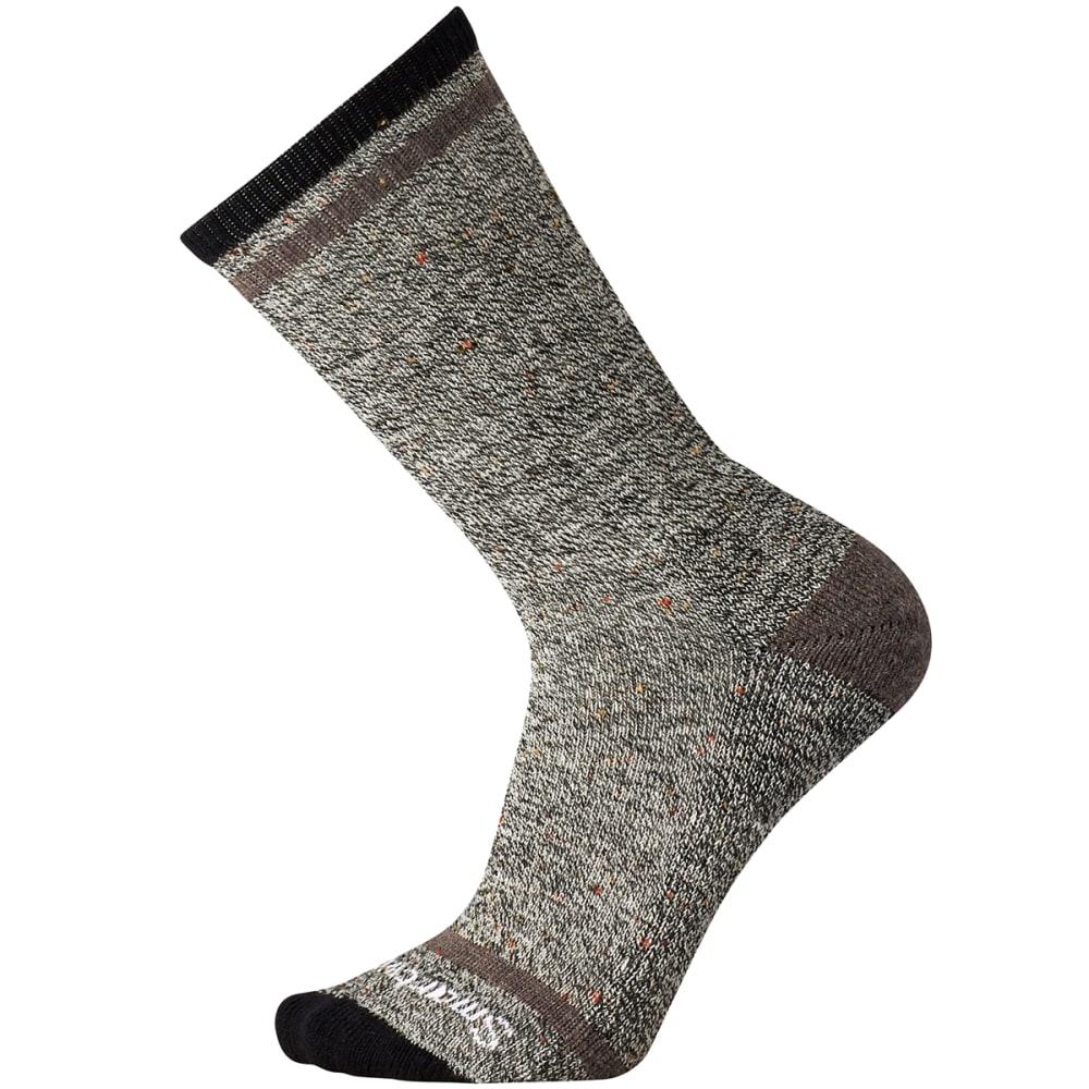 SMARTWOOL Men's Larimer Crew Socks - 368-BLK/TAUPE HTR