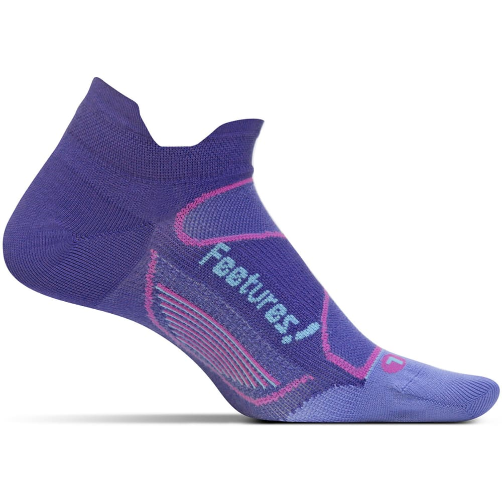 FEETURES! Men's Elite Ultra Light Cushion No Show Socks - DEEP PURPLE