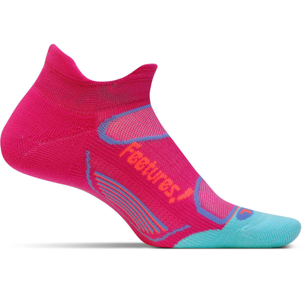 FEETURES! Women's Elite Light Cushion No Show Socks - DEEP PINK