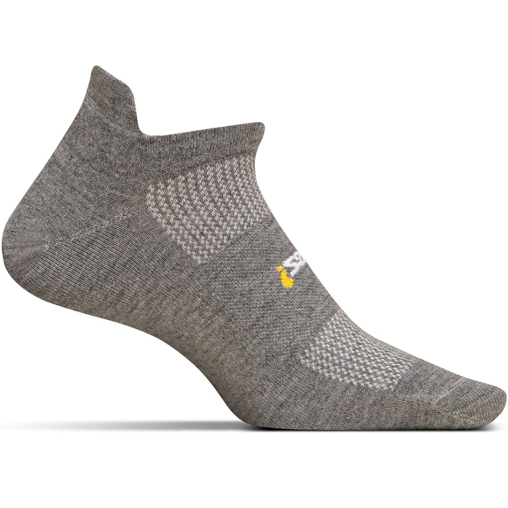 FEETURES! HP Ultra Light No Show Tab Socks - HEATHER GREY