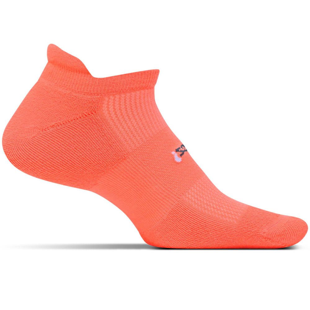 FEETURES! Light Cushion No Show Tab Socks - CORAL