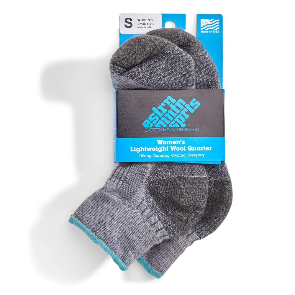 EMS Women's Fast Mountain Lightweight Wool Quarter Socks - FOG