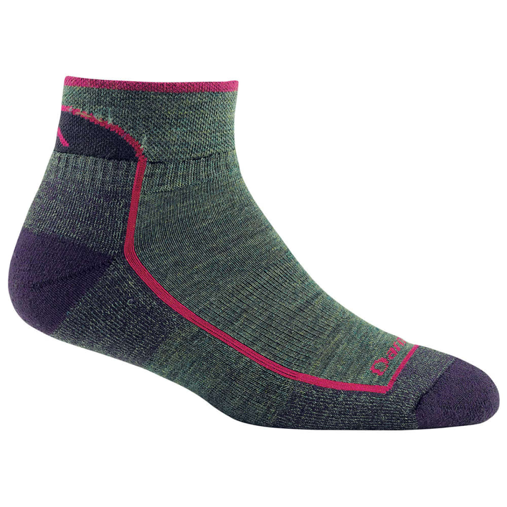DARN TOUGH Women's Merino Wool Cushion 1/4 Hiking Socks - MOSS
