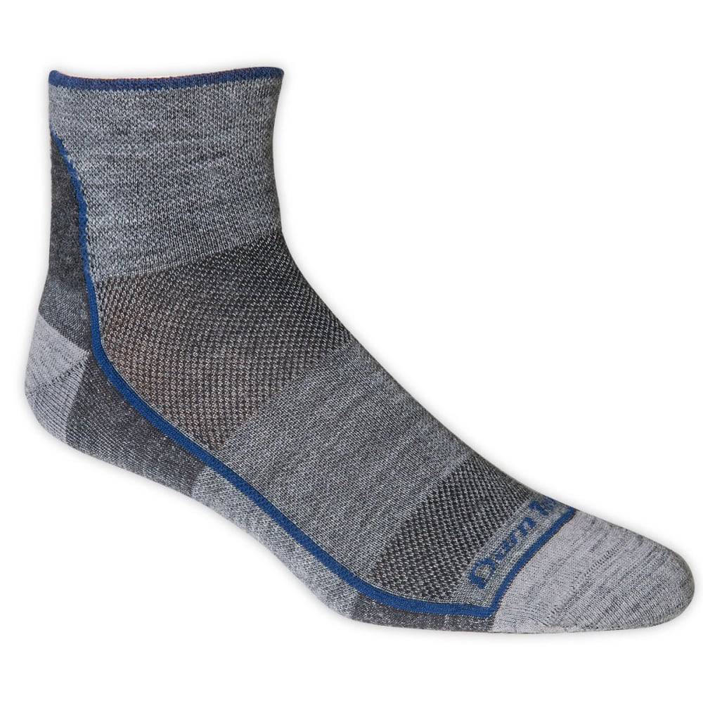 DARN TOUGH Merino Wool Mesh 1/4 Run/Bike Socks - CHARCOAL