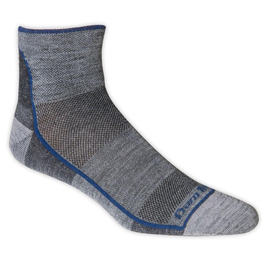DARN TOUGH Merino Wool Mesh 1/4 Run/Bike Socks - CHARCOAL
