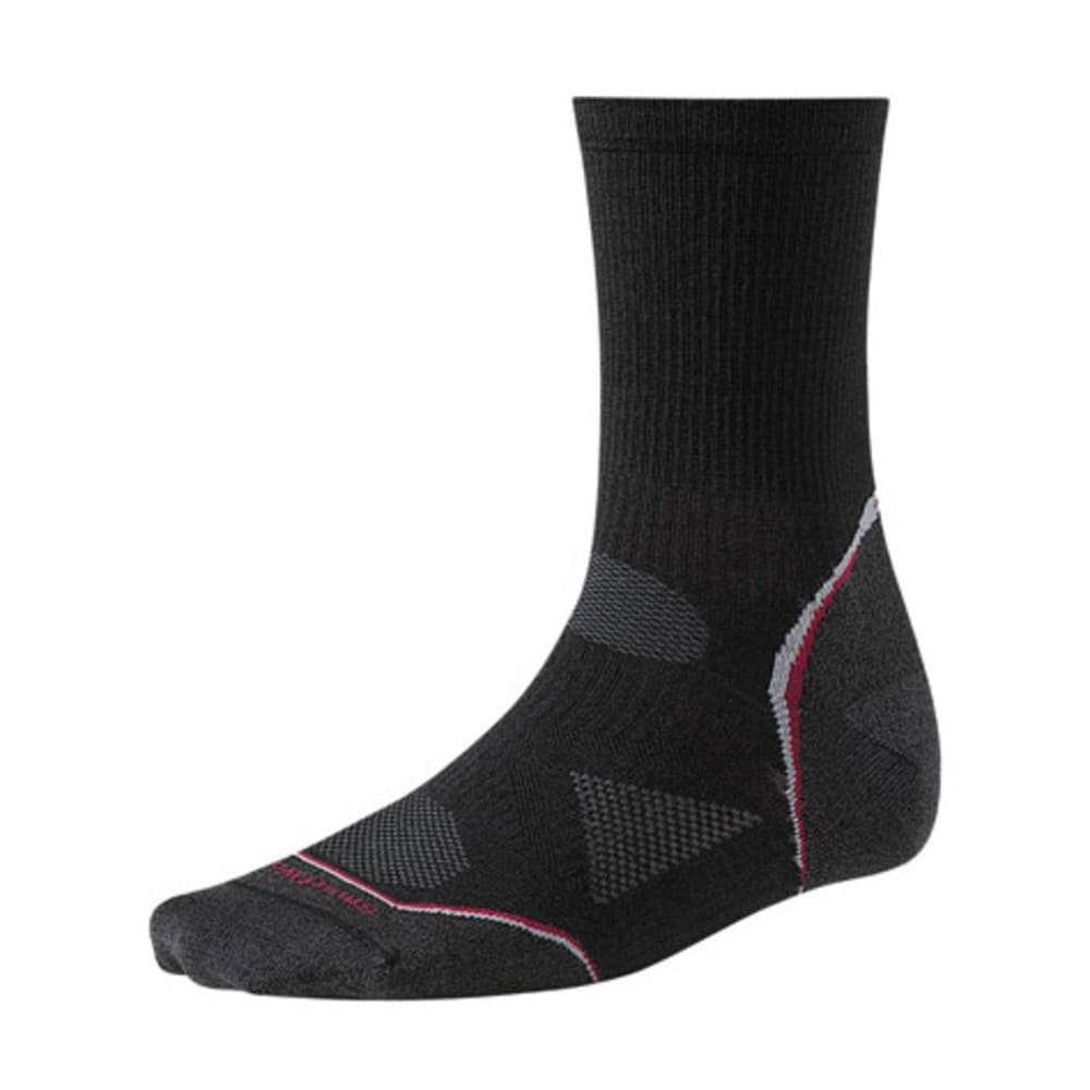SMARTWOOL PhD Cycle Ultra Light 3/4 Crew Socks - BLACK