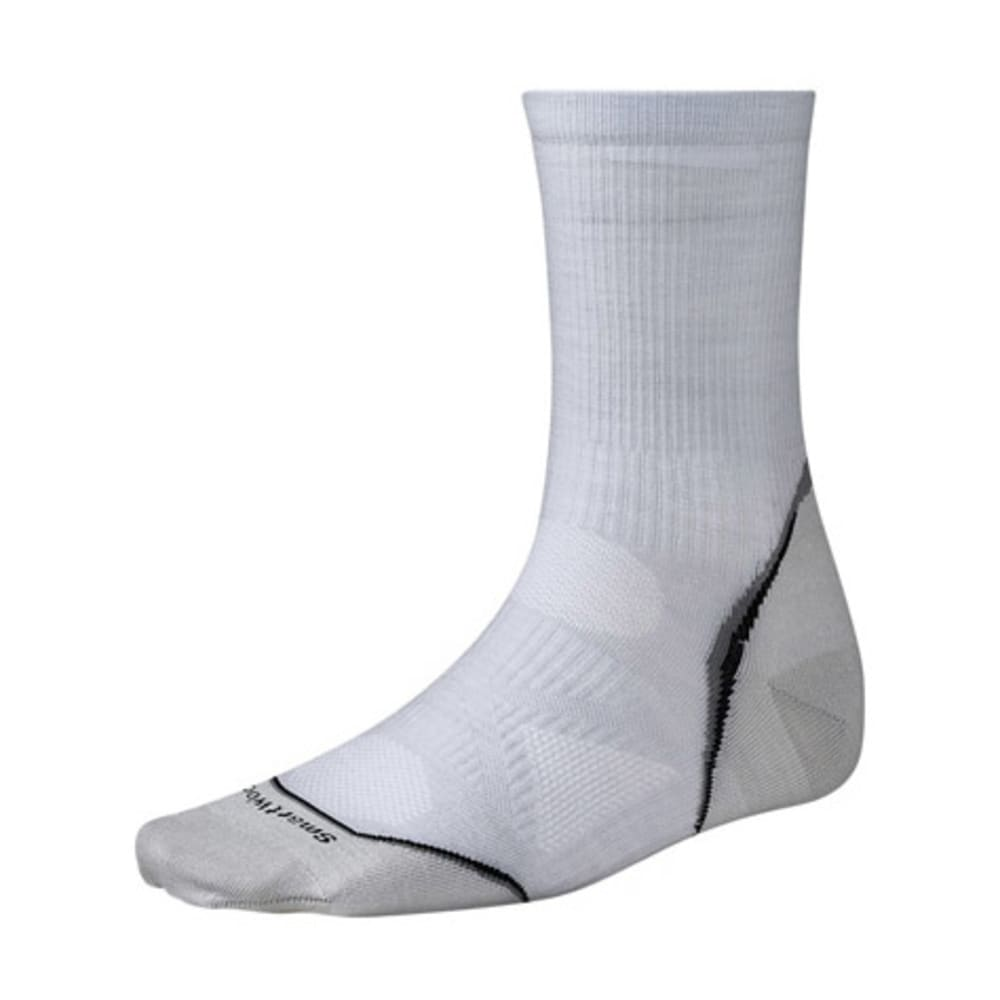 SMARTWOOL PhD Cycle Ultra Light 3/4 Crew Socks - SILVER