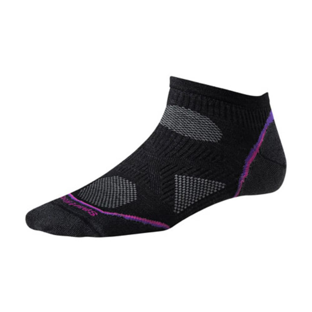 SMARTWOOL Women's PhD Cycle Ultra Light Micro Socks - BLACK
