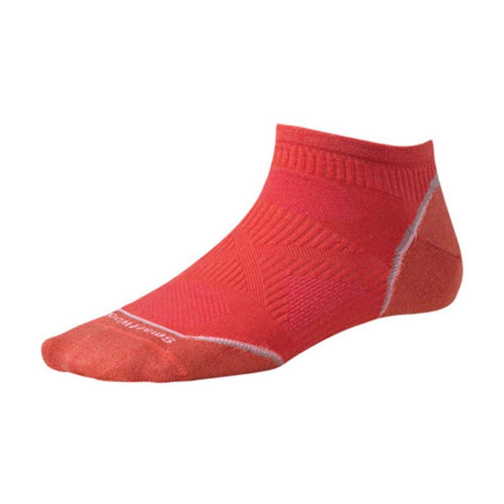 SMARTWOOL Women's PhD Cycle Ultra Light Micro Socks - POPPY
