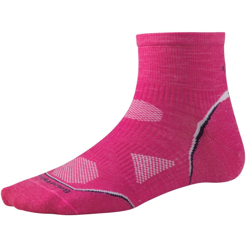 SMARTWOOL Women's PhD® Cycle Ultra-Light Mini Socks - BRIGHT PINK-684