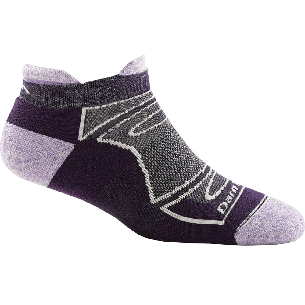 DARN TOUGH Women's No-Show Light Cushion Run/Bike Socks - TEAM PURPLE