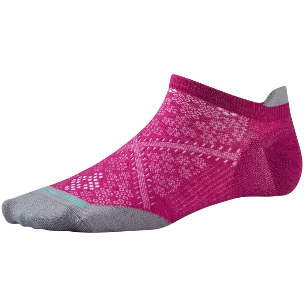 SMARTWOOL Women's PhD Run Ultra Light Micro Socks - BERRY-044