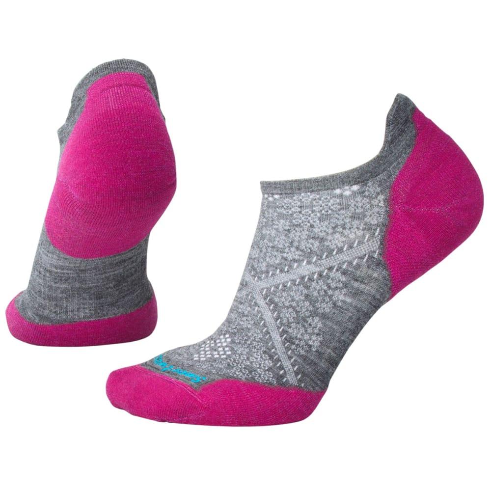 SMARTWOOL Women's PhD Run Light Elite Micro Socks - 052-MED GREY