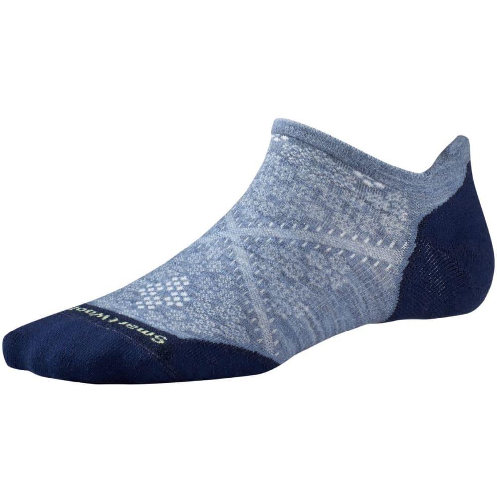 SMARTWOOL Women's PhD Run Light Elite Micro Socks - BLUE STEEL-474