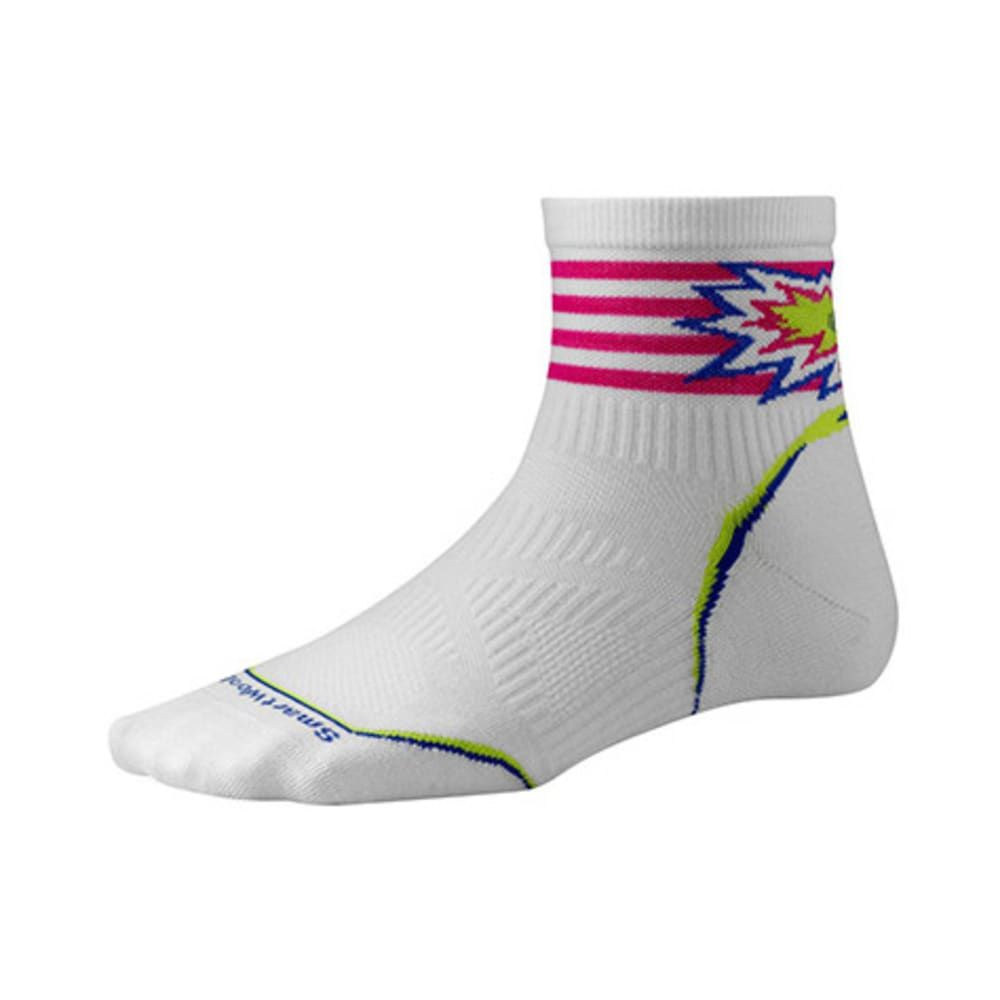 SMARTWOOL Women's PhD Cycle Ultra Light Pattern Mini Socks - CAPRI