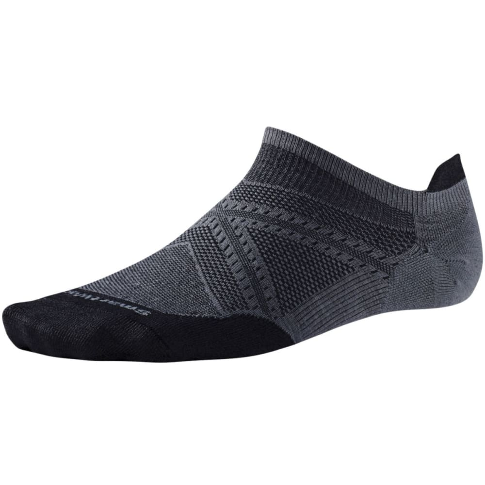SMARTWOOL Men's PhD Run Ultra Light Micro Socks - GRAPHITE/BLK 021