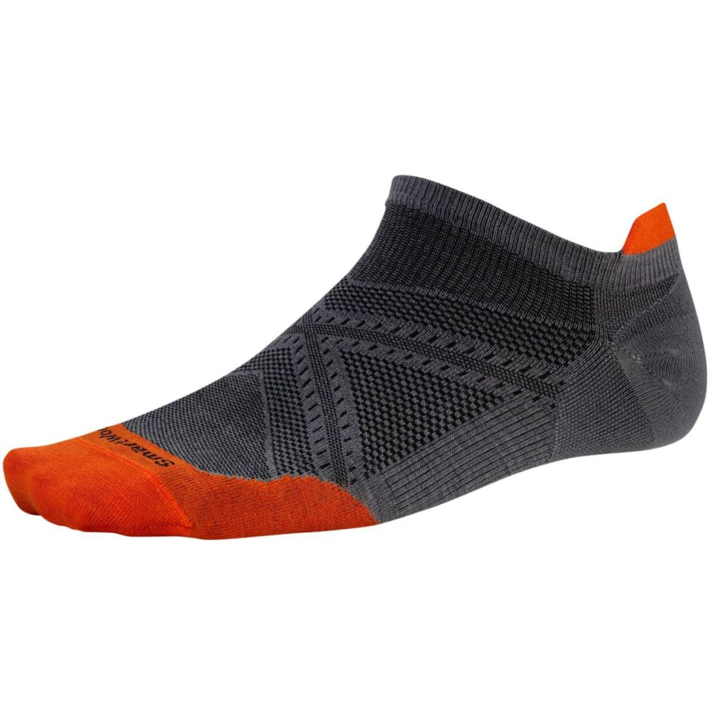 SMARTWOOL Men's PhD Run Ultra Light Micro Socks - GRAPHITE/ORANGE 826