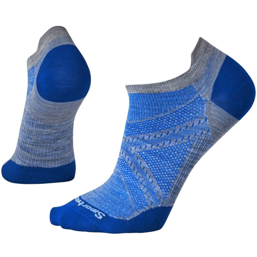 SMARTWOOL Men's PhD Run Ultra Light Micro Socks - LT GRY/DK BLUE 870