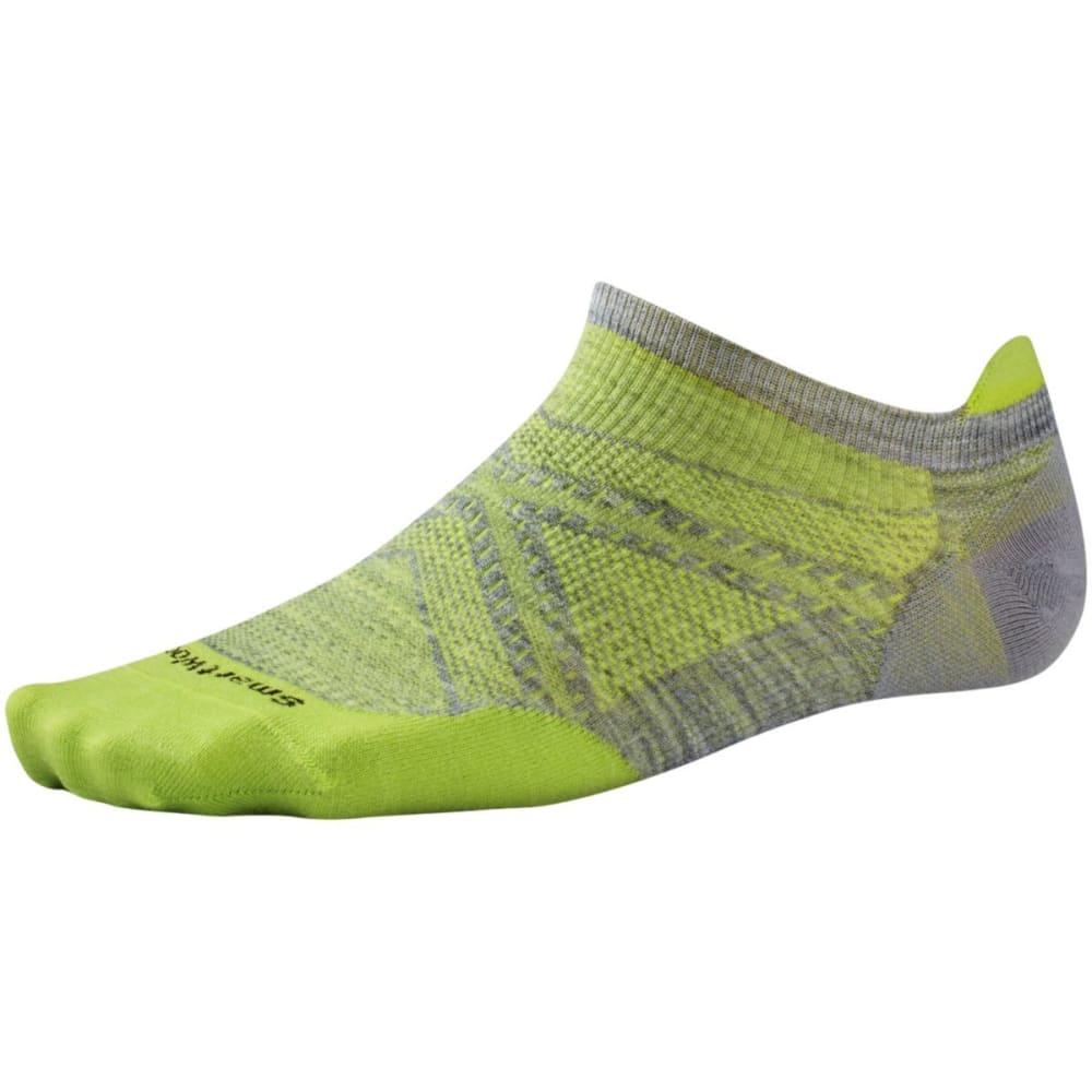 SMARTWOOL Men's PhD Run Ultra Light Micro Socks - LGHT GRY/GREEN-305