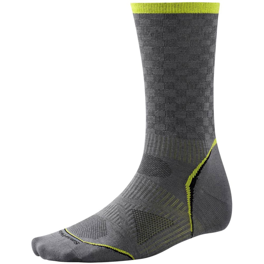 SMARTWOOL Men's PhD Cycle Ultra Light Pattern Crew Socks - GRAPHITE