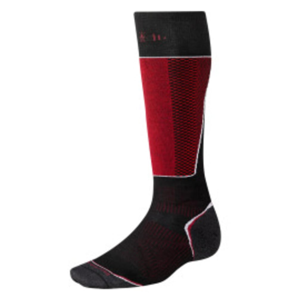 SMARTWOOL Men's PhD Racer Over the Calf Socks - BLACK