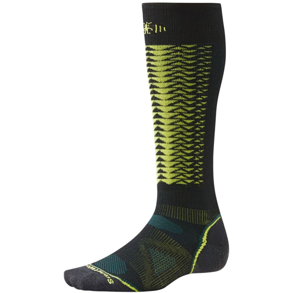 SMARTWOOL Men's PhD Downhill Racer Socks - BLACK